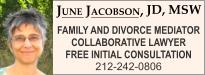 June Jacobson, J.D., M.S.W., NEW YORK County NEW YORK divorce lawyers